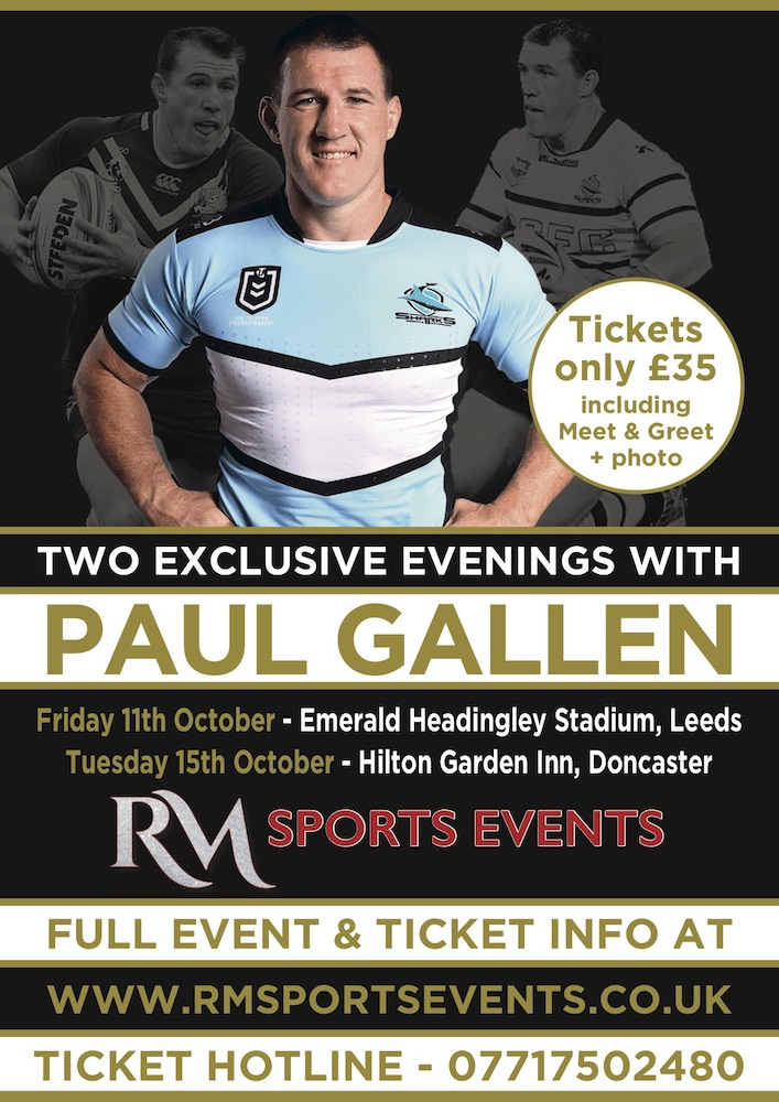 An evening with Rugby League Legend Paul Gallen